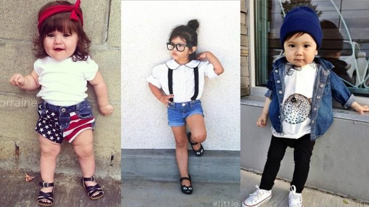 niñas modelando