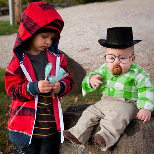 niños disfrazados de breaking bad