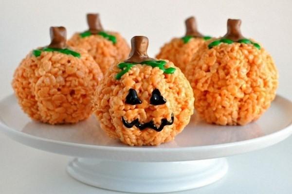 calabaza hecha de arroz