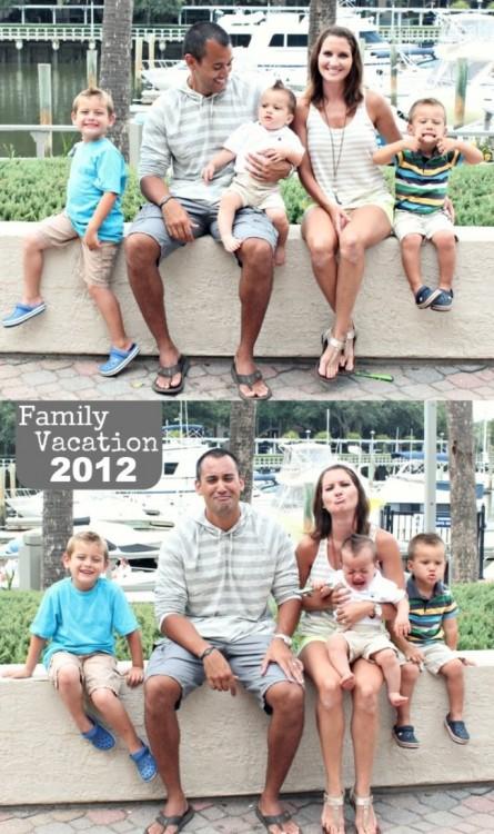 las caras de la familia