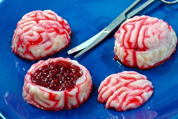 cerebros rellenos de fresa