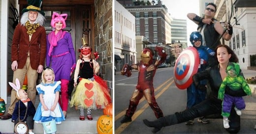 las familias mejos disfrazadas para halloween