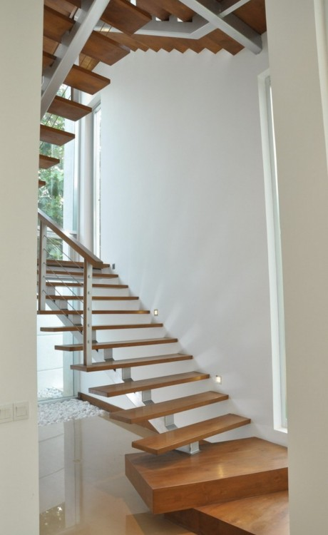 escalera dde interior estilo minimalista