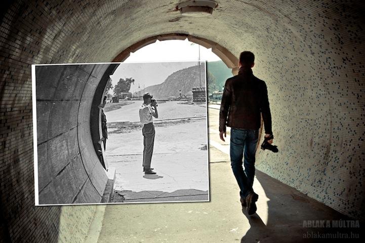 2 personas en un tunel
