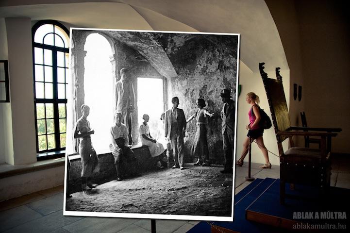 grupo de jóvenes dentro de una casa vieja