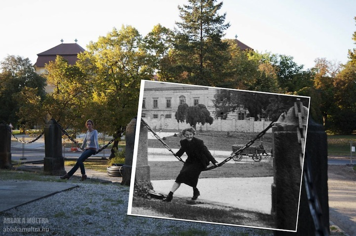 mujer columpiándose en un parque