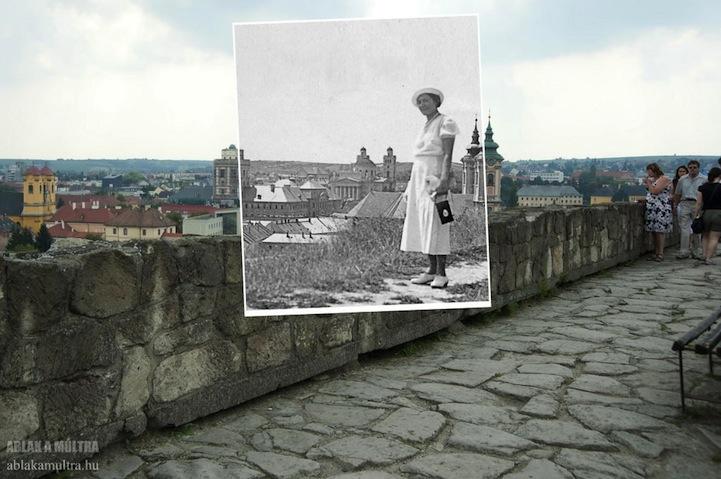 mujer viendo una ciudad