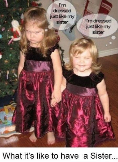 niñas con vestido igual