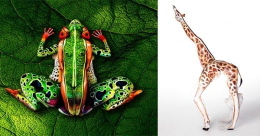 body paintin de animales artistas