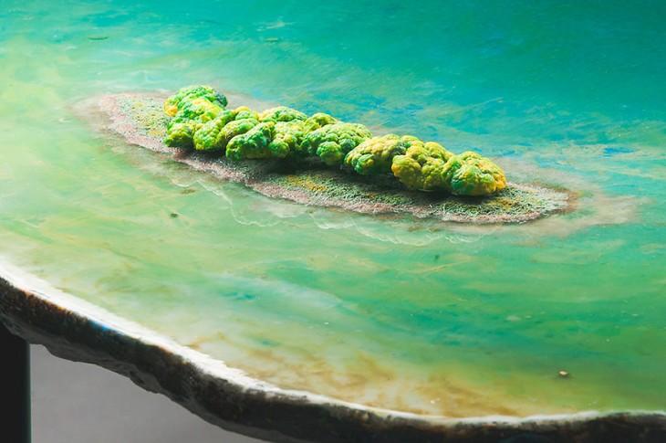 mesa que parece una isla