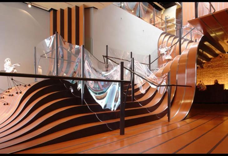Escaleras de La Maison Unique compania Francesa de servicios en Nueva York