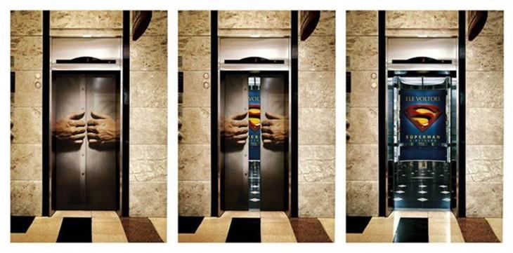 elevador donde se viste superman