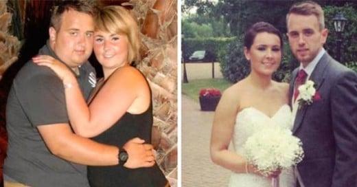 pareja pierde peso para su boda