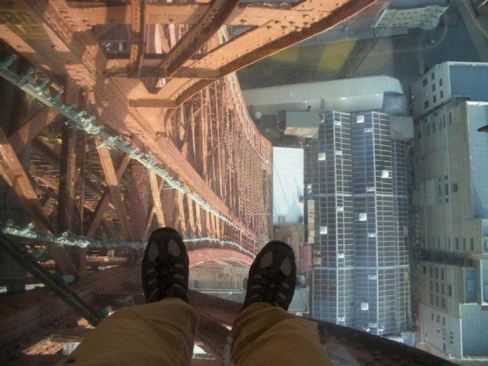 viendo hacia abajo