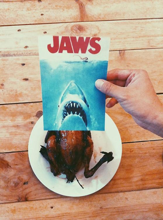 póster pelicula tiburon