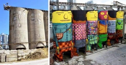 hermanos transforman silos en arte