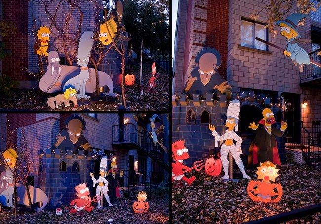 la casa de los simpson en halloween
