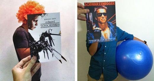 sobrepone posters de peliculas famosas en personas