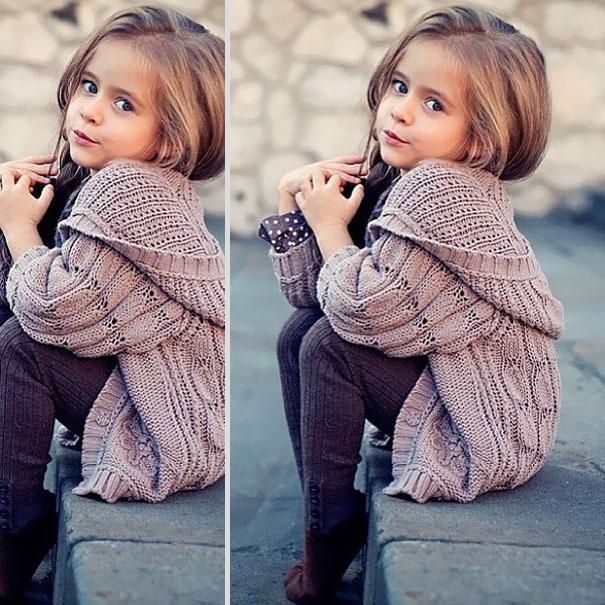 niña con sueter cardigan
