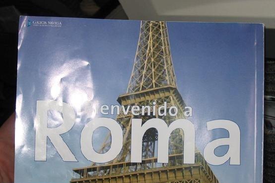 bienvenido a roma, foto torre eifel
