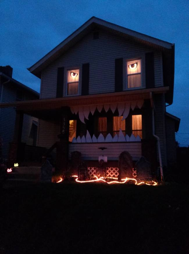 Decoraciones creativas de casas para halloween