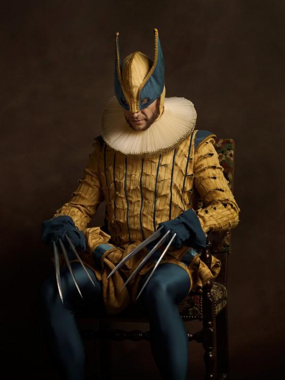 Retrato de Wolverine con una vestimenta del siglo XVl