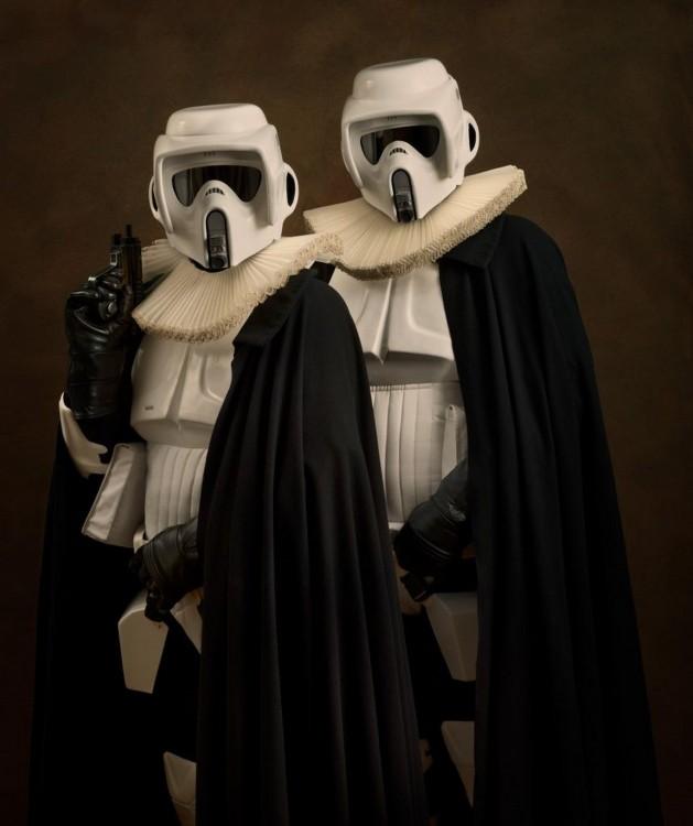 stormtroopers con vestimenta de la edad media