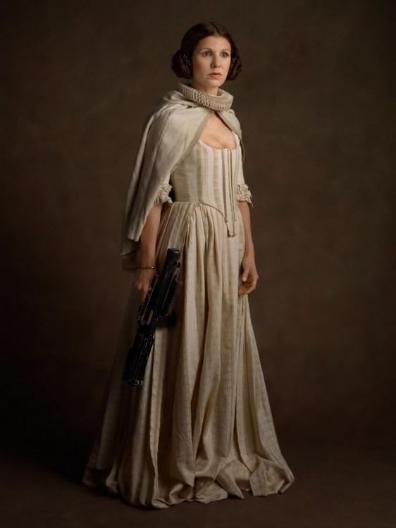 Princesa Leia con una vestimenta medieval
