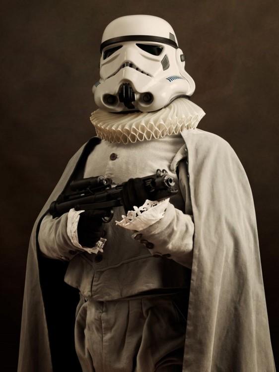 stormtrooper vestido medievalmente