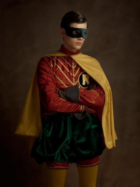 robin con su traje si hubiera existido en el siglo 16