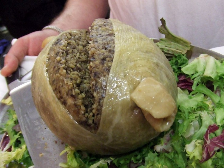 Estomago de oveja al plato
