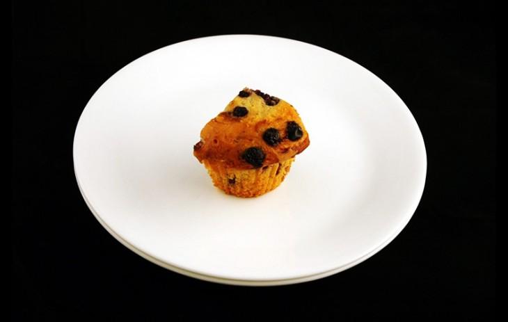 un muffin de pasas