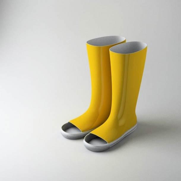 botas para el agua con agujero