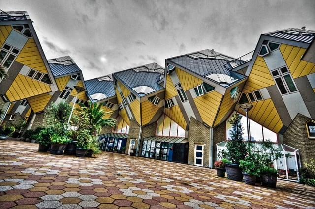 casasExtrañas  casas cubo Rotterdam