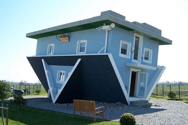 casasExtrañas Casa de cabeza en Alemania