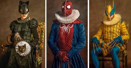 asi es como s verian los super heroes y personajes en el siglo 16