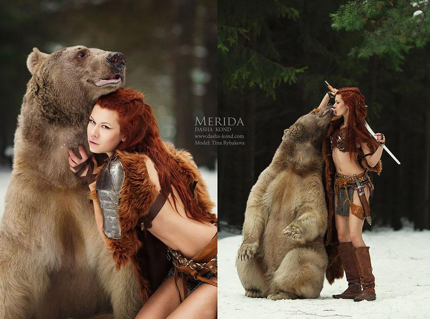 Fotografías de cuento de hadas con animales reales