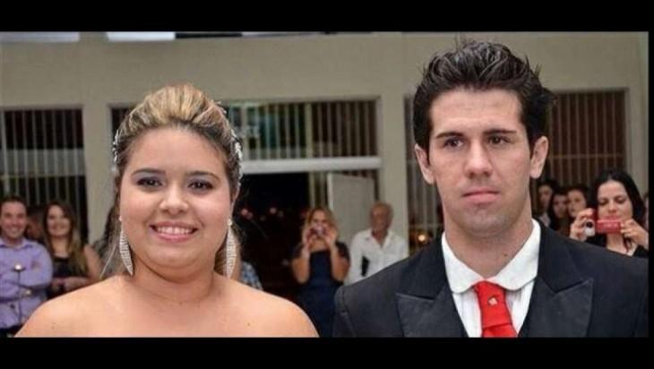 Novia lo invita a su propio casamiento sorpresa Felipe Comparini y Leyenne oliveira