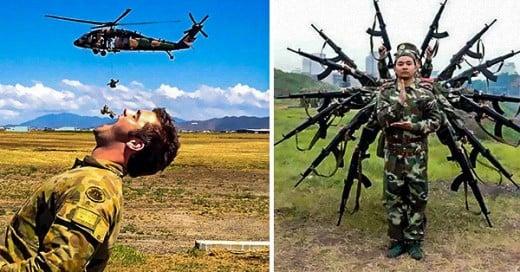 fotos de soldados divirtiendose en su tiempo libre