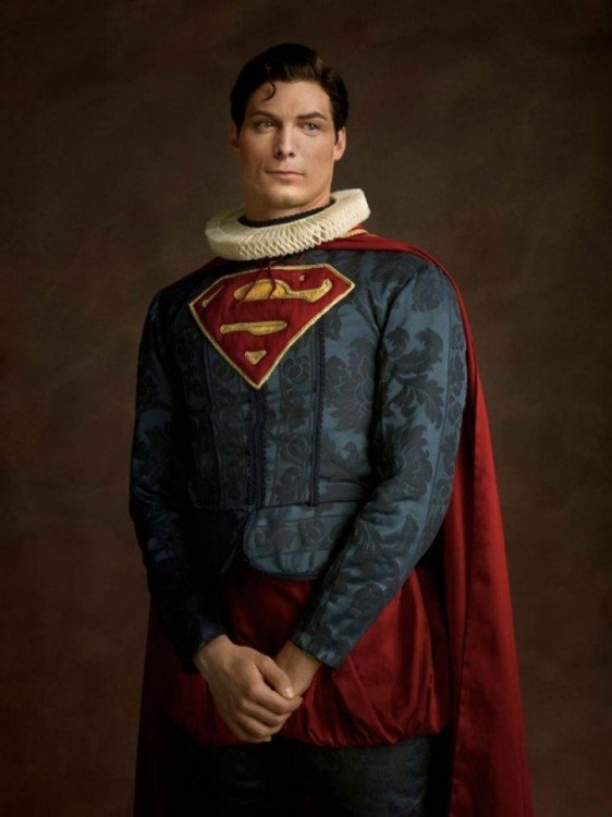 superman retrato medieval