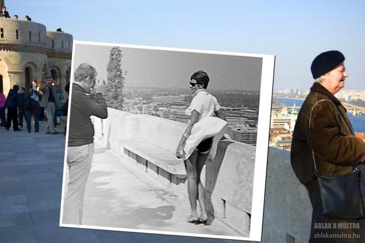 foto de mujer en un balcon