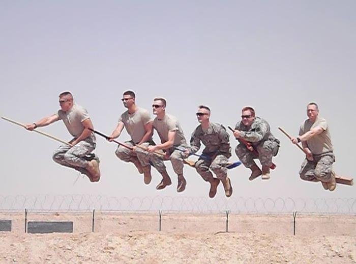 soldados jugando quiditch