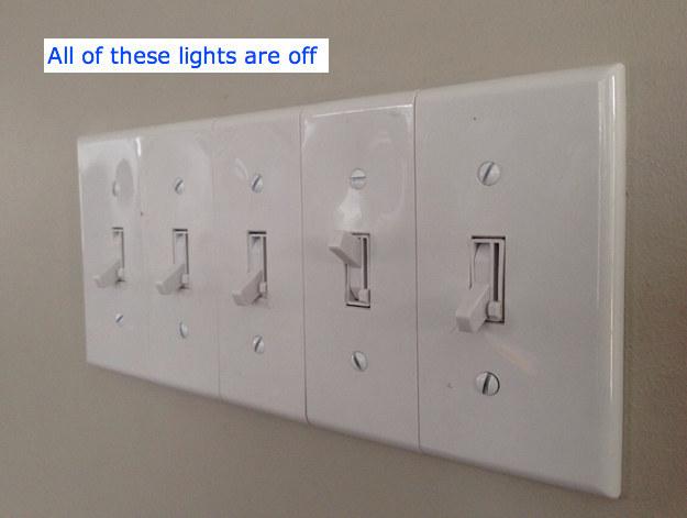 interruptor de luz que apaga de forma contraria