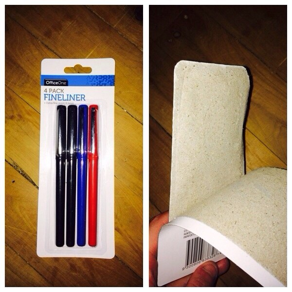 paquete de lapices que se abre de manera incorrecta