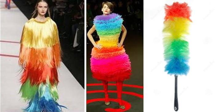 iconos de la moda vestidas con colores como el de un plumero