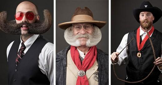 los participantes del campeonato de barba y bigote del 2014