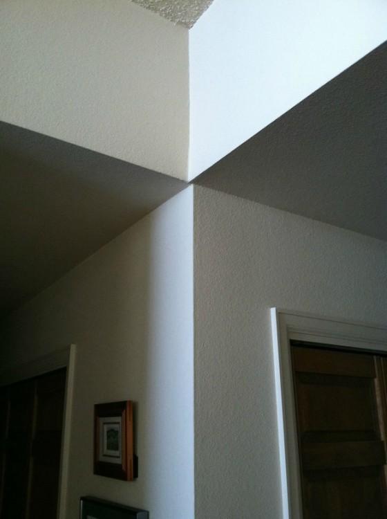 el techo no coincide con la pared