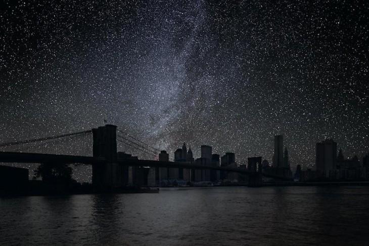 Puente de Nueva York a oscuras