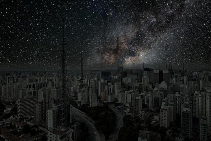 ciudad Sao Paulo a oscuras