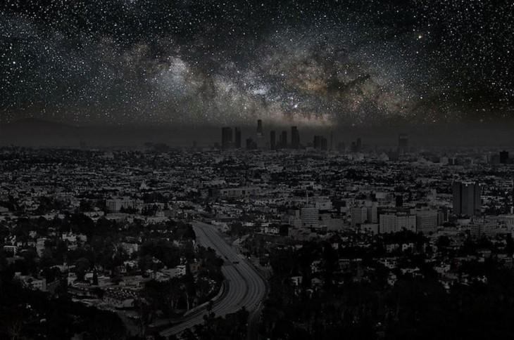 Ciudad de Los Ángeles a oscuras